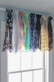 Creative Way To Hang Scarves by No Sew Window Treatments Creative Valances From Your Own Wardrobe
