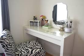 Small Modern Bedroom Vanity Bedroom Small Glass Makeup Vanity Table And Black White Zebra