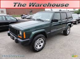 jeep cherokee green 2000 jeep cherokee sport 4x4 in forest green pearl 251876