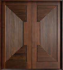 Interior Doors For Homes Modern Front Door Custom Double Solid Wood With Walnut Finish