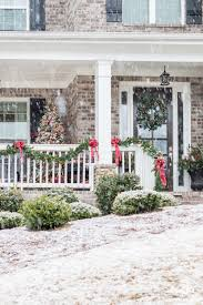 porch classic christmas decor for a traditional front porch kelley nan
