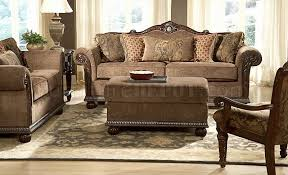 Chenille Sofa And Loveseat Brown Gold Chenille Classic Living Room Sofa W Marble Details