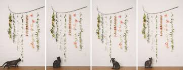 hanging picture diy flower garland wall hanging the kitchy kitchen