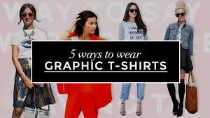 5 ways to wear a graphic t shirt stylecaster