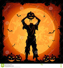 free halloween orange background pumpkin monster with head of halloween pumpkin stock vector image 76302395