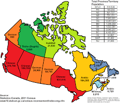 Map Of Quebec Province Most Commonly Spoken Language In Canada Other Than English Or