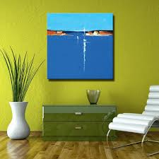 blue abstract seascape oil paintings hand painted abstract