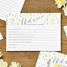 baby shower advice cards baby shower advice cards pack of eight by intwine design