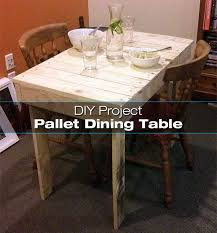 Pallet Dining Room Table Diy Shipping Pallet Dining Table Tutorial Diy For Life