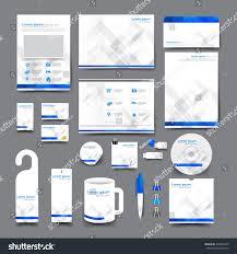 Business Card Letterhead Envelope Design big set trifold flyer brochure business stock vector 340876703