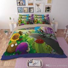 Duvet Vs Duvet Cover 2017 New Plants Vs Zombies Duvet Cover Set Quilt Cover Bedsheet
