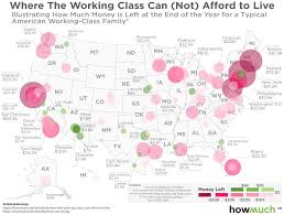 where the working class cannot afford to live in america states