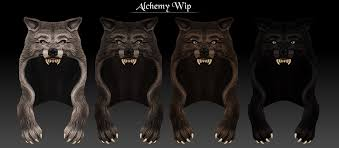 alchemy wolf headdress wip update just finished texturin flickr