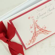 Wedding Wishes Envelope Guest Book Personalised Paris Wedding Guest Book By Dreams To Reality Design