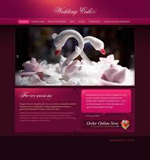 wedding cake websites wedding cake website template 24939