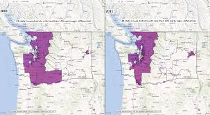 washington state house districts with less than 10 party