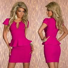 2015 summer dress peplum bodycon bandage dress ol