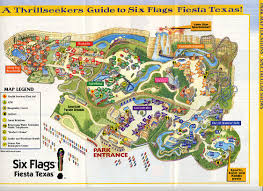 Map Of San Antonio Texas Six Flags Fiesta Texas San Antonio Map Image Gallery Hcpr