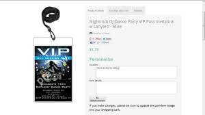 Vip Invitation Cards Dj Dance Party Vip Pass Invitations Youtube