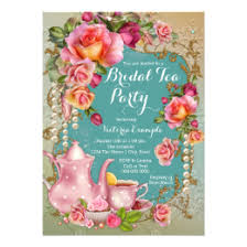 bridal tea party bridal tea party invitations announcements zazzle