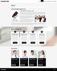 website template 52423 furniture company design custom website