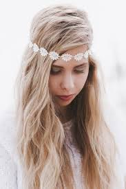 hippie flower headbands headband headband trim elastic headband