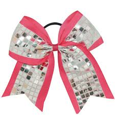 cool hair bows sequin cheer bows for school cheerleading party supplies