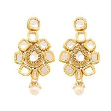 Buy Kundan Embellished Dangler Earrings Fashion Earrings Wholesale Trader From Ghaziabad
