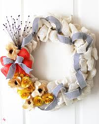 diy burlap flower wreath easy home decor craft idea