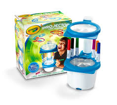 discovery toy drawing light designer crayola toy sketcher projector playset including 6 coloured pens