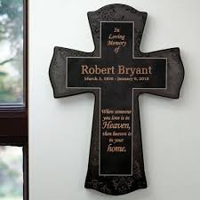 personalized in loving memory gifts personalized memorial wall cross in loving memory wall cross
