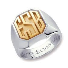 monogram ring kent monogram ring 14k yellow white