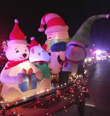 Inflatable Firefighter Christmas Decorations by Firefighters Light Up The Town In Somerville U0027s V Annual Holiday