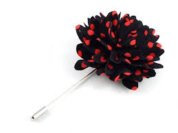 lapel flower jet black and polka dot lapel flower the daring