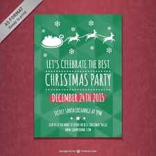 christmas party poster template free vectors ui download
