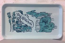 themed serving tray michigan themed retro serving tray my secret stash