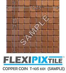 Copper Penny Tile Backsplash - sample flexipixtile aluminum peel u0026 stick mosaic tile backsplash
