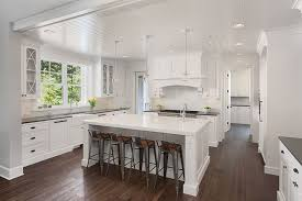 White Kitchens With Dark Floors by White Kitchen Cabinets With Dark Floors Wood Floors