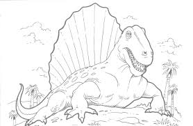 dimetrodon coloring pages printable dinosaurs animal coloring