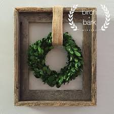 preserved boxwood wreath dimensions 7 in diameter with wood