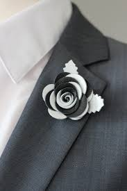 boutonniere pins black and white lapel pin mens lapel flower