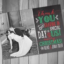 Newly Wed Christmas Card Wedding Thank You Cards Outstanding Wedding Thank You Christmas