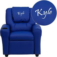 flash furniture personalized vinyl kids recliner with cup holder