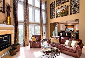 Decorating Ideas For Living Rooms With High Ceilings Living Room With High Ceiling And Leather Sofa High Ceiling