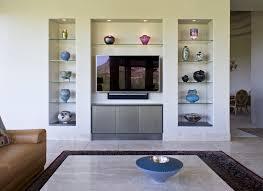 Niche Decorating Ideas Floating Glass Shelves Mode Phoenix Modern Living Room Decorating