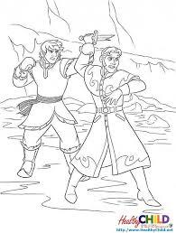 kristoff hans frozen coloring pages
