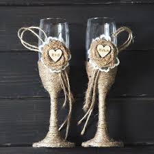 wedding glasses custom toasting wedding glasses country rustic chic wedding gifts