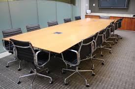 nienkamper 14 u0027 ribbon mahogany rectangular conference table with