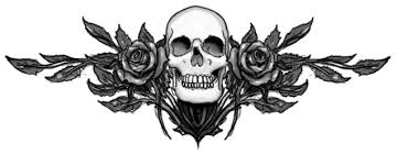 skull with roses by plunderedpsyche on deviantart