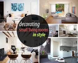 tips to decorate a small living room home interior and design